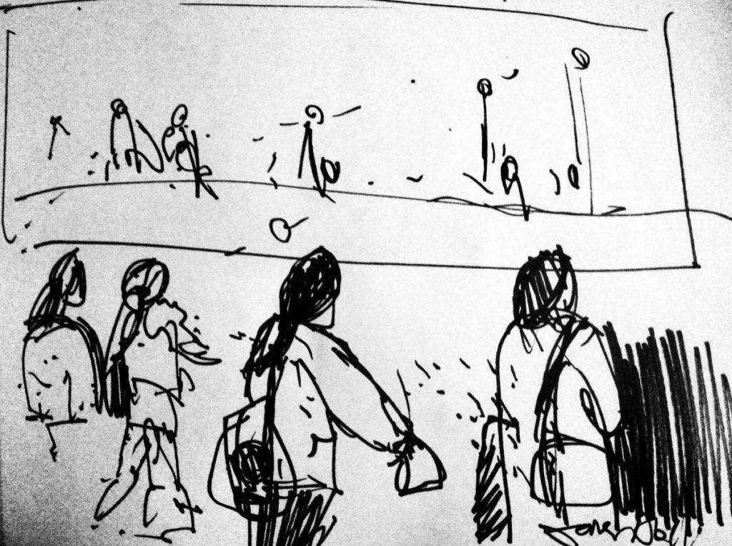 Sketch Portobello beach Edinburgh