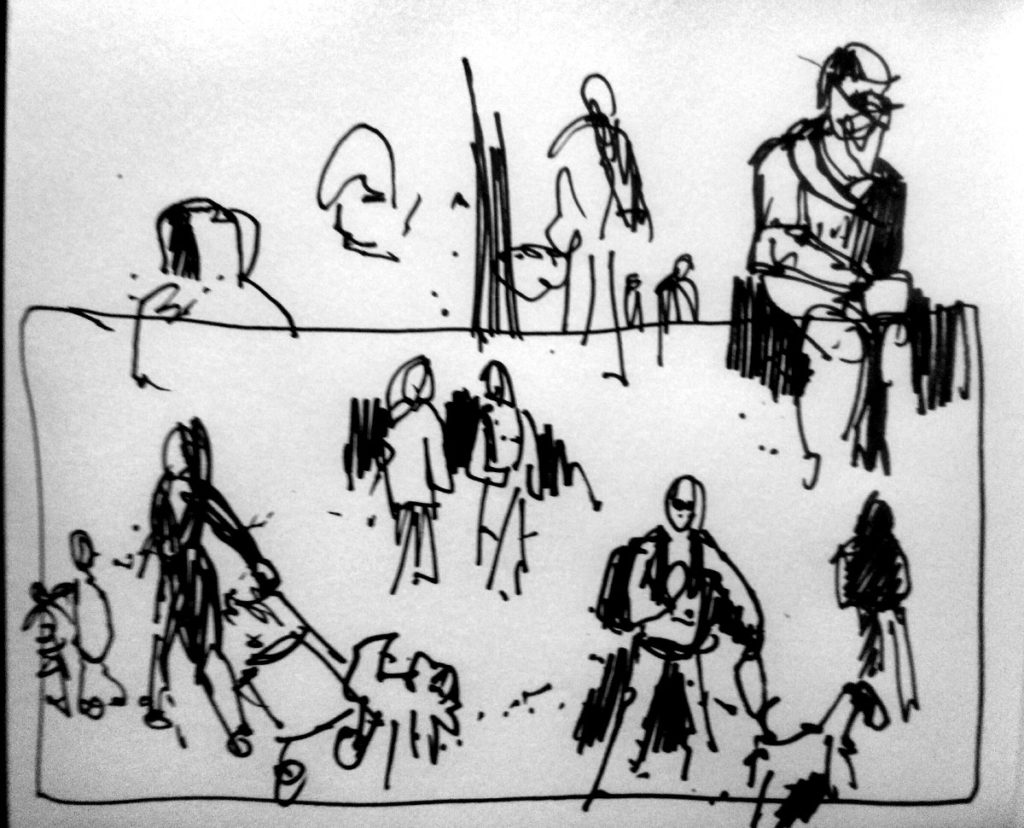 Urban Sketch Leith Links Edinburgh