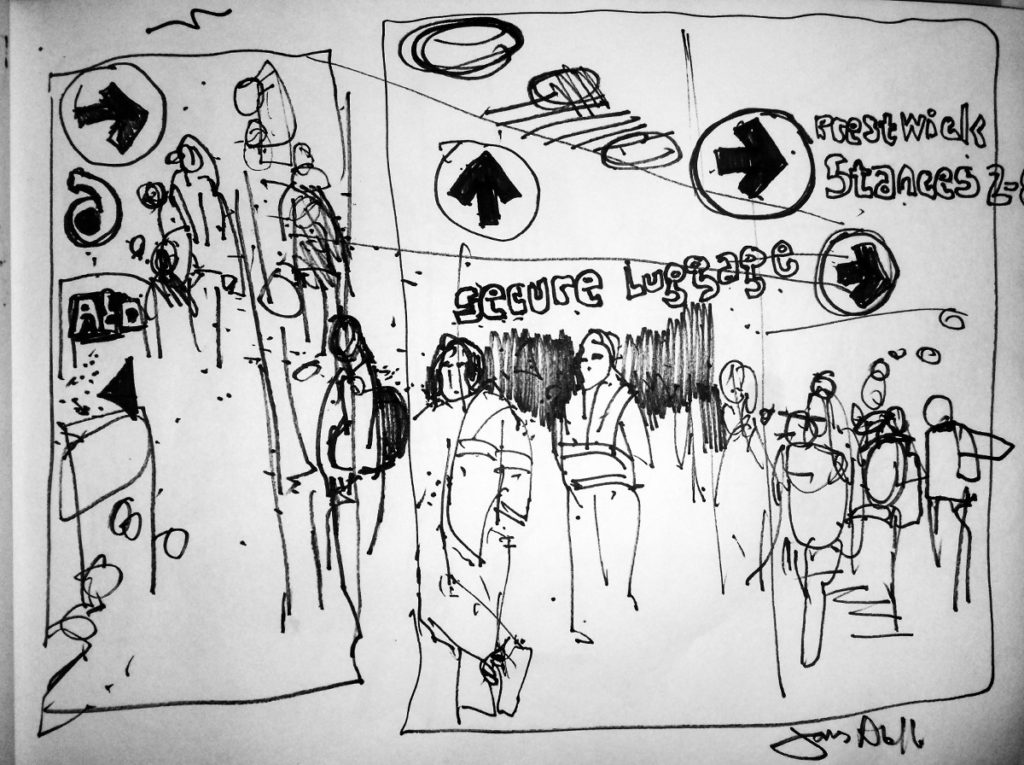 Glasgow Bus Station Sketch