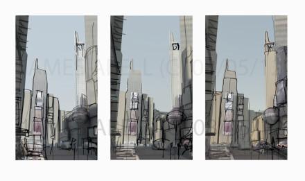 New York Time Square Big Giclée Print