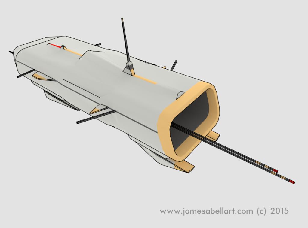 Free Blender Spaceship Model    - James Abell Art