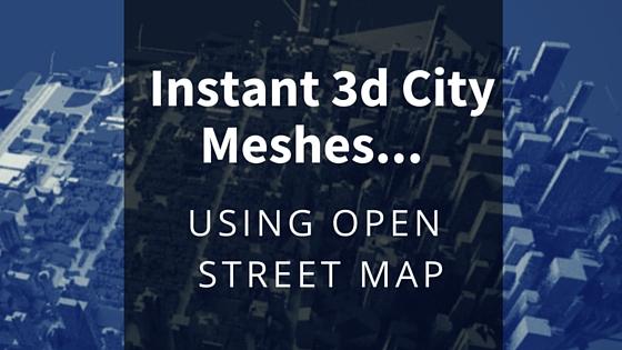 3d City - Instant 3d Meshes