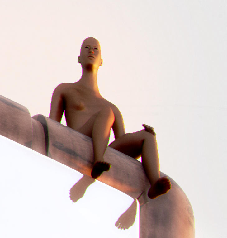 woman watching from towers
